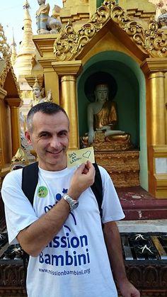 #Appiccicami è arrivato anche in Birmania grazie al nostro responsabile dei progetti all'Estero, Stefano Oltolini!