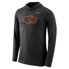 Men's Nike Oklahoma State Cowboys Dri-FIT Hooded Tee, Black