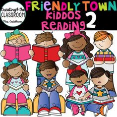 kids reading - from library bundle