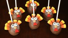 turkey cake pops made for my son& preschool party Happy Thanksgiving Canada, Thanksgiving Preschool, Thanksgiving Parties, Turkey Cake, Fall Baking, Cake Pops, Cake Decorating, Desserts, Kids