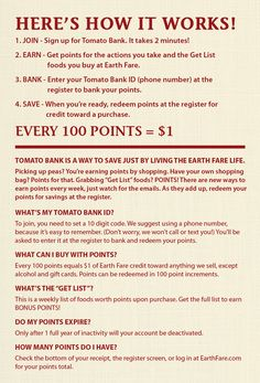 Text coupons earth fare