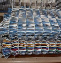 Weaving Own Chenille Cut Into Strips Then Weave Again High Pile Rug