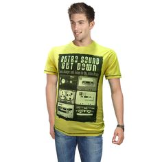 Graphic t-shirts go along every casual look, for an evening look you can pair it up with a black blazer. #twist #menswear #graphictees #casual #look visit us on http://www.droomfashion.com/product-category/men/