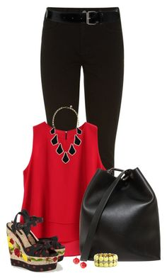 """""""Jeans and Wedges"""" by sherry7411 ❤ liked on Polyvore"""