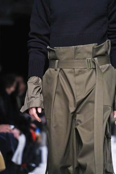 High wasted pants and cropped sleeves at JUUN J F/W15