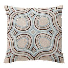 Made In India Linen Medallion Pillow Modern Throw Pillows, Blue Pillows, Accent Pillows, Floor Pillows, Decorative Throw Pillows, Contemporary Decorative Pillows, Burke Decor, Pillow Sale, Artists