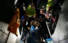 Gael Monfils signs autographs as he exits the stadium.  Australian Open, January 2012.  #tennis