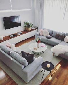 Living Room Decor Cozy, Living Room Grey, Home Living Room, Apartment Living, Interior Design Living Room, Interior Stairs, Living Room Inspiration, Morning Mood, Modern Living