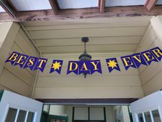 """Rapunzel/Tangled Birthday party """"Best Day Ever"""" banner"""