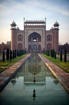 Taj Mahal Entrance, Agra, India, a view rarely photographed but it's still serio… – Travel – Join the world of pin Places Around The World, Oh The Places You'll Go, Places To Travel, Places To Visit, Around The Worlds, Travel Destinations, Agra, Taj Mahal India, Hindu India