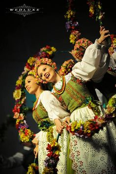 Folk costume from Kurpie, Poland worn by the famous Polish dance company, Mazowsze