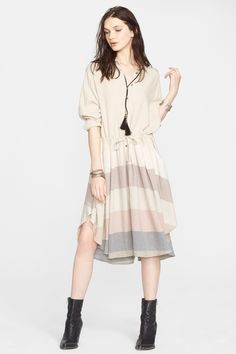 Ray of Light Button Front Dress