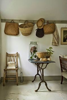 "Victor Mutton Country Living March 2013 UK by Nick Carter, via Behance- Always love the English interpretation of ""Country""- so serene Best Picture For country farmhouse decor ladder For Your Taste Yo Country Cottage Interiors, Cottage Style, Deco Champetre, Shaker Style, Decoration, Rattan, Farmhouse Decor, French Farmhouse, Country Farmhouse"