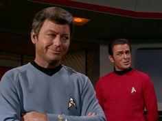 Dr. McCoy (DeForest Kelley) & Mr. Scott (James Doohan) - Star Trek: The Original Series S03E12: The Empath (First Broadcast: December 6, 1968)