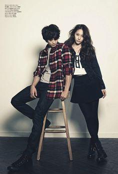 '90s grunge :: Choi Min Ho and Krystal for High Cut Magazine