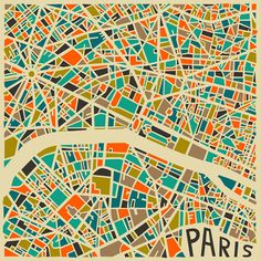 Colorful, Abstract Maps Of New York And Other Big Cities - DesignTAXI.com