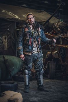 Post Apocalyptic Mad Max costume made by Dust Monkey for Wasteland Warriors