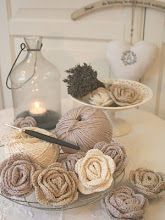 crochet roses. No pattern, but looks simple enough, and really cute.