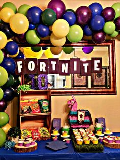 Impress the gamer in your family with these fun and creative Fortnite birthday party ideas including menu, decoration, tablescape, and gaming tips. Frozen Birthday Party, Birthday Party Games, Birthday Treats, 6th Birthday Parties, Birthday Party Invitations, Birthday Party Decorations, 12th Birthday, Boy Birthday, Party Printables