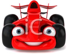 iCLIPART - Royalty Free Clipart Image of a Race Car