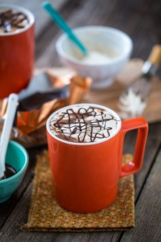 Protein-Rich Hot Chocolate with Peanut Butter Whipped Cream  |  Keepin' It Kind