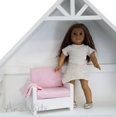 "Ana White | Build a American Girl or 18"" Doll Sofa or Couch Plans 