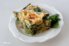 mina-spinach-pie for Passover. Add lots of chopped scallions in a skillet, cook, add the spinach to wilt, then add a bunch of dill just prior to cooking in oven. (rather than just boiling spinach)