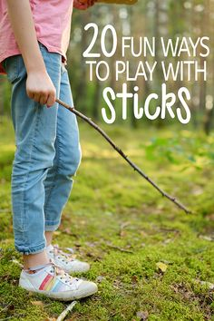 Outdoor Play: 20 Fun Ways to Play with Sticks Forest School Activities, Outdoor Activities For Kids, Outdoor Learning, Kids Learning Activities, Outdoor Play, Games For Kids, Kids Moves, Preschool Projects