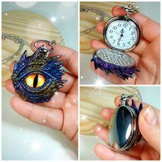 Reloj de bolsillo, reloj de dragón, reloj original, reloj colgante