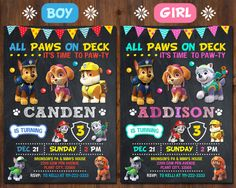 Paw Patrol Invitation Paw Patrol Birthday Party Boy by Bestplaces