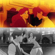 One of the best fictional couples, which are from one of my very favorite films, Anastasia (NOT a Disney movie, just so we're clear).