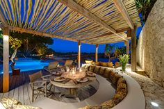 Candle Light Dinner Luxury Resorts, Patio, Candles, Dining, Outdoor Decor, Home Decor, Mulches, Food, Terrace