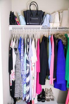 Closet Tour With LED Motion-Activated Lights - Stylish Sassy & Classy Closet Door Makeover, Closet Tour, Coat Closet Organization, Closet Storage, Room Closet, Closet Space, Closet Lighting, Hanging Clothes, Modern Room