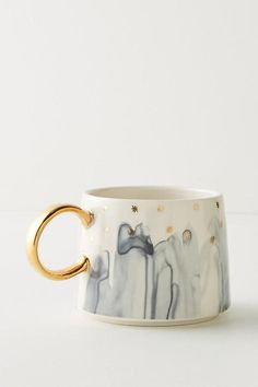 Pretty gilded mug from Anthropologie