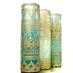 Aromatherapy Prayer Candle Personalized Candles Moroccan Decor Best Friend Gift for Women Bohemian Console Table Boho Soy Candles Handmade - Moroccan Candle, Gift for Her, Boho Decor Prayer Candle, Aromatherapy Scent, Hand Painted Henna Can - Personalized Candles, Handmade Candles, Mason Jar Lanterns, Mason Jars, Jar Candle, Gold Henna, Style Marocain, Moroccan Theme, Moroccan Style