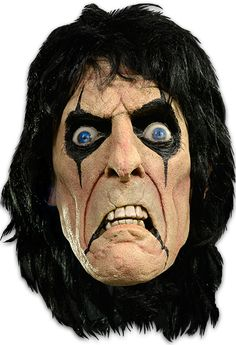 No More Mr. Nice Guy! Now you can be the iconic Alice Cooper with this officially licensed latex mask! Rock on!