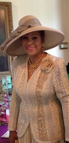 Evangelist L. Patterson, beautiful lady wearing a beautiful hat!