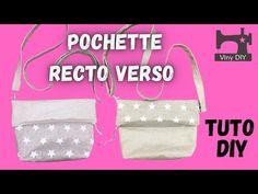 Tuto vidéo couture pochette Recto Verso - DIY - YouTube Diy, Couture Facile, Sewing, Bricolage, Do It Yourself, Homemade, Diys, Crafting