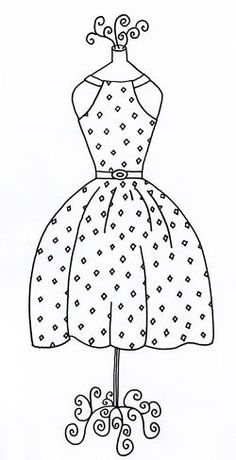 Diamond Dress Pattern - Do as applique with buttons, etc. and frame in embroidery hoop. Paper Embroidery, Vintage Embroidery, Cross Stitch Embroidery, Embroidery Patterns, Quilt Patterns, Machine Embroidery, Motif Vintage, Diamond Dress, Digi Stamps