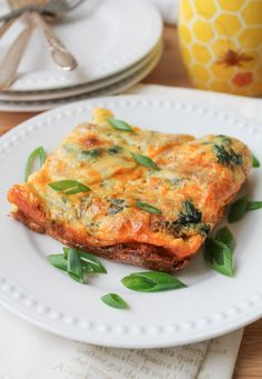 Egg Casserole with Sweet Potato & Spinach - Gluten Free