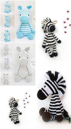 Amigurumi Crochet Zebra Free Pattern Making - Amigurumi Zebra - DIY Crochet Amigurumi, Crochet Bear, Crochet Gifts, Cute Crochet, Amigurumi Patterns, Crochet Dolls, Knitting Patterns, Crochet Patterns, Crochet Zebra Pattern