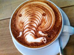 TRAKTEREN makes the best latte art in town, don't you think?  Favorite Coffee Spots in Amsterdam - Awesome Amsterdam awesomeamsterdam.com