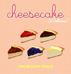 One Billion Pixels: Edible Cheesecake