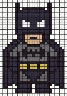 「batman logo pixel art template」の画像検索結果