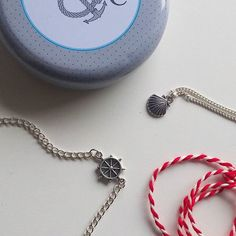 Some more nautical goodies from @binkystrinkets! I love the little ship wheel bracelet!