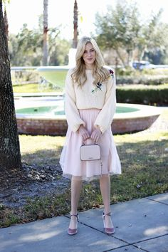 Tulle Skirt + Chunky Sweater | A Daydream Love