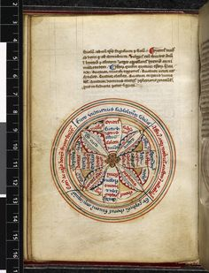 Harley 3814 f. 58v Diagram of the four seasons / ages of man / humors and the winds