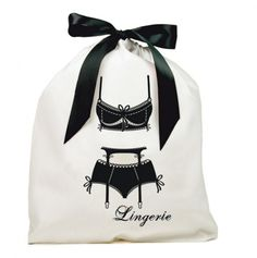 Lingerie Bag with Black Bow.