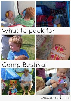 Camp Bestival family festival packing list