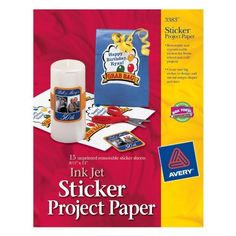 Buying Choices: Avery Sticker Project Paper, White, x 11 Inches, Pack of 15 Paper Craft Supplies, Scrapbook Supplies, Scrapbook Paper, Paper Crafts, Scrapbooking, Jet, Sticker Paper, Stickers, Cookie Monster Party